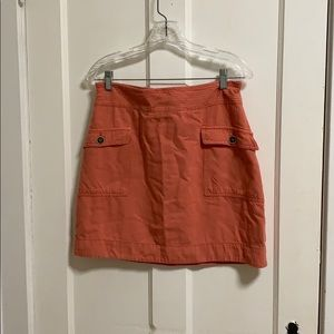 Coral colored Anthropologie skirt